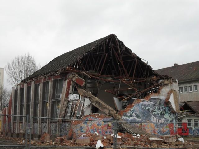 Abriss der Turnhalle