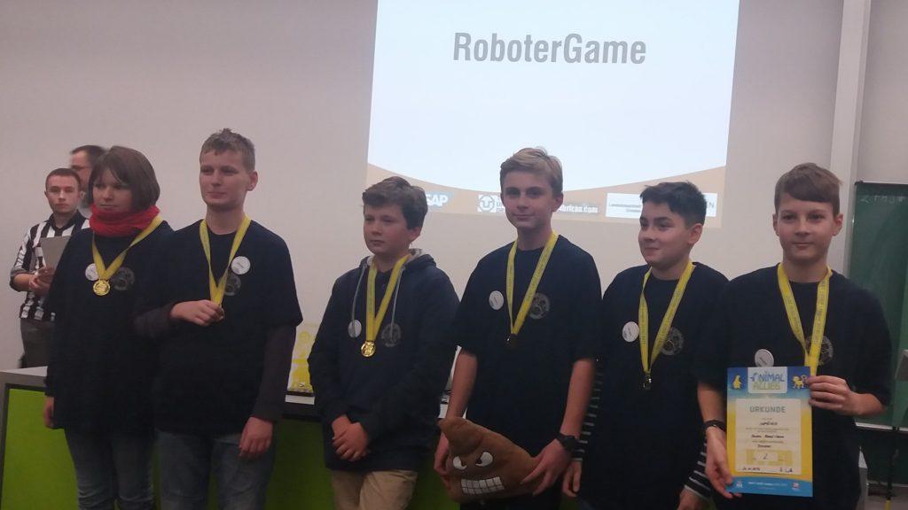 Siegerehrung im RobotGame – 2. Platz
